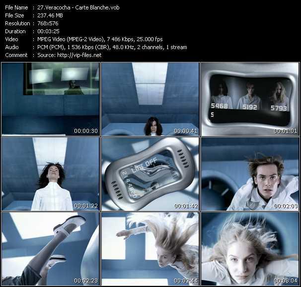 Screenshot of Music Video Veracocha - Carte Blanche