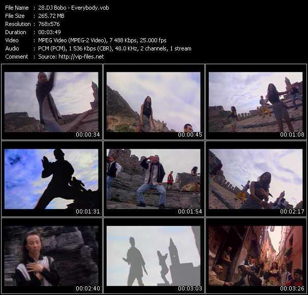 Screenshot of Music Video Dj Bobo - Everybody