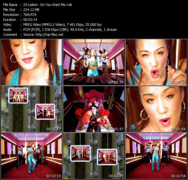 Screenshot of Music Video Leilani - Do You Want Me?