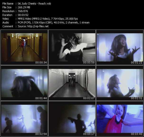 Screenshot of Music Video Judy Cheeks - Reach