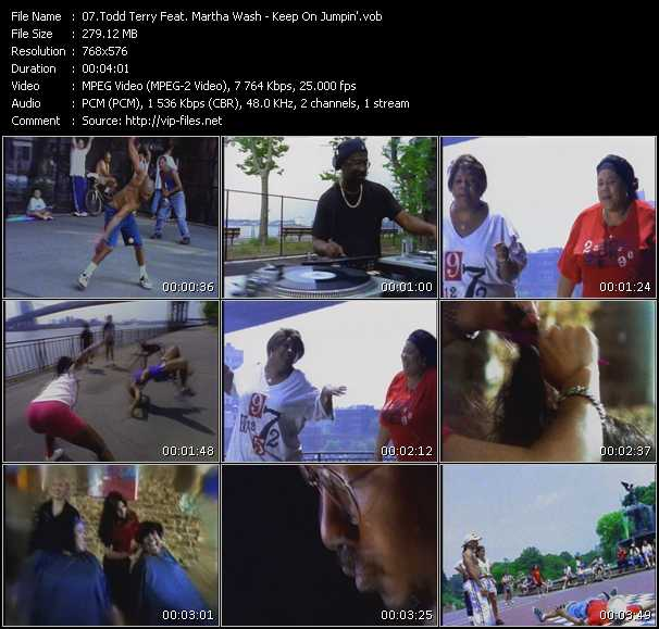 Screenshot of Music Video Todd Terry Pres. Martha Wash And Jocelyn Brown - Keep On Jumpin'
