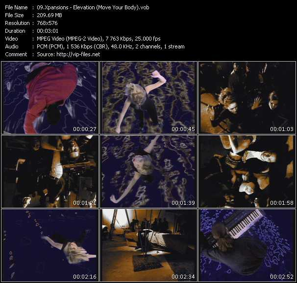 Screenshot of Music Video Xpansions - Elevation (Move Your Body)