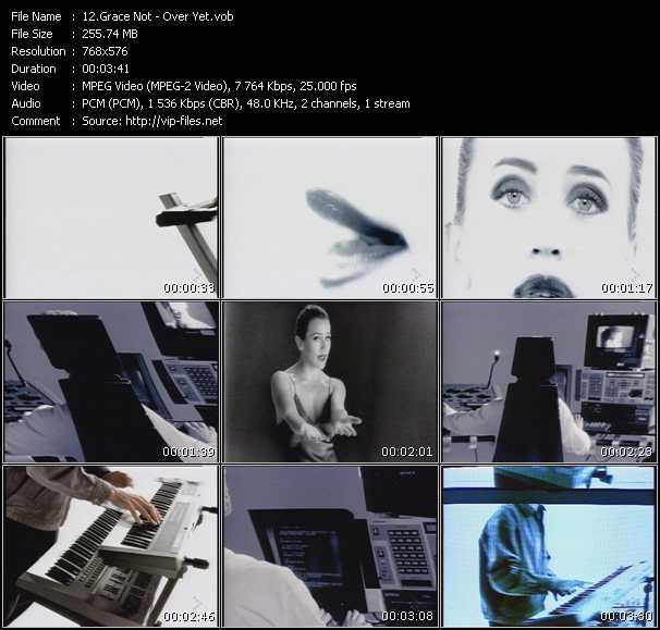Screenshot of Music Video Grace Not - Over Yet