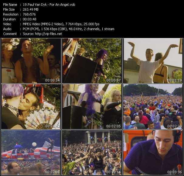 Screenshot of Music Video Paul Van Dyk - For An Angel