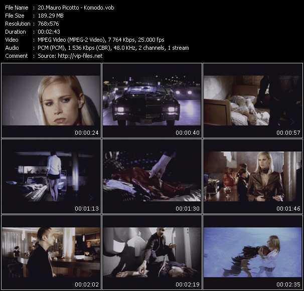 Screenshot of Music Video Mauro Picotto - Komodo