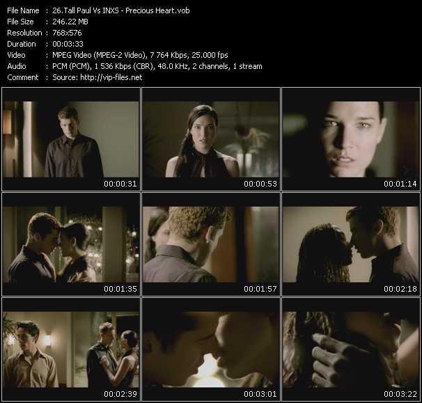 Screenshot of Music Video Tall Paul Vs. Inxs - Precious Heart