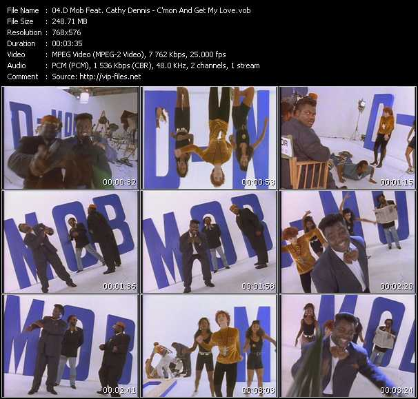 D-Mob With Cathy Dennis видеоклип vob