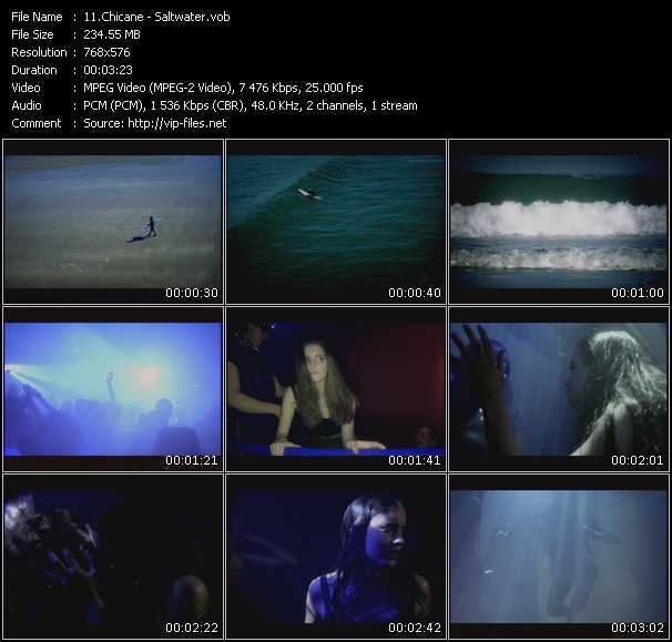 Screenshot of Music Video Chicane - Saltwater