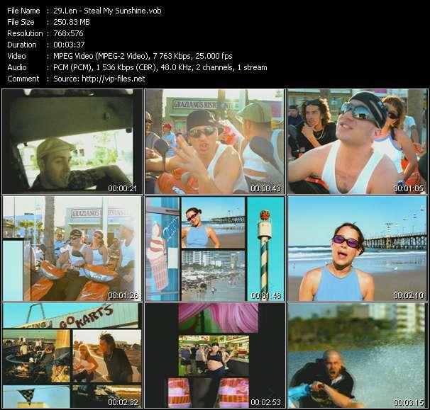 Screenshot of Music Video Len - Steal My Sunshine