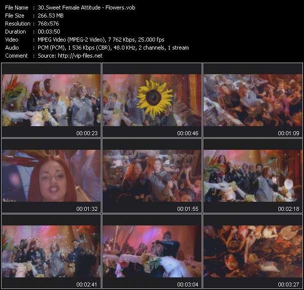 Screenshot of Music Video Sweet Female Attitude - Flowers