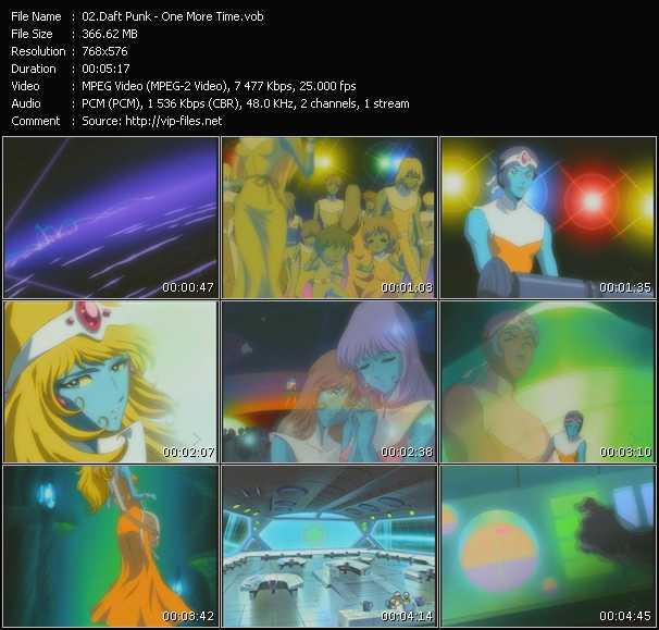 Screenshot of Music Video Daft Punk - One More Time