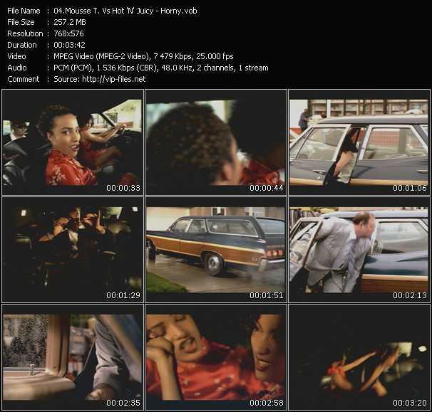 Screenshot of Music Video Mousse T. Vs. Hot 'N' Juicy - Horny