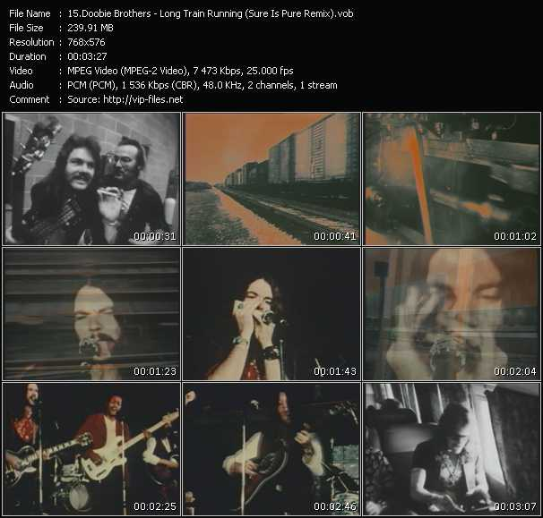 Screenshot of Music Video Doobie Brothers - Long Train Running (Sure Is Pure Remix)