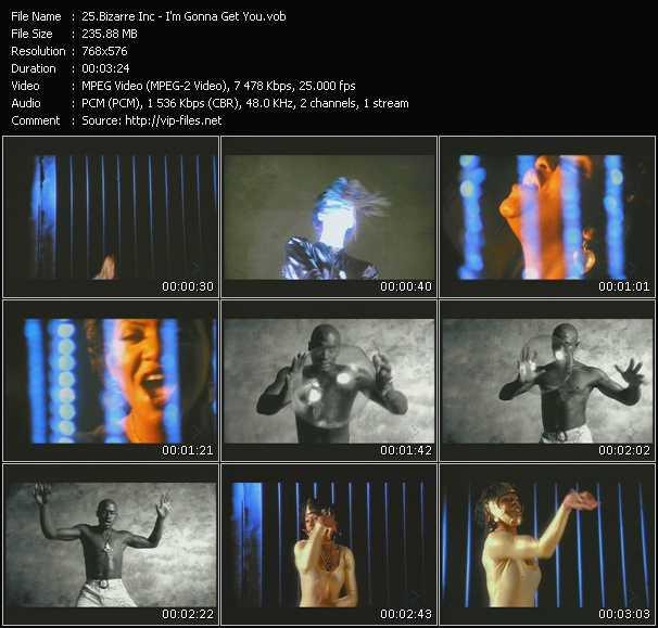 Screenshot of Music Video Bizarre Inc. - I'm Gonna Get You