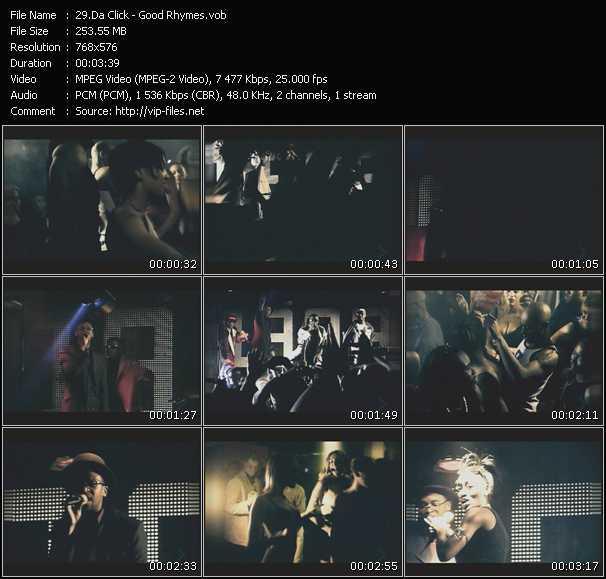 Screenshot of Music Video Da Click - Good Rhymes