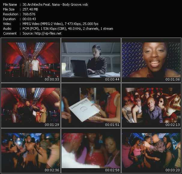 Screenshot of Music Video Architechs Feat. Nana - Body Groove
