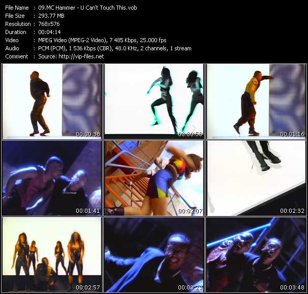 Screenshot of Music Video Mc Hammer - U Can't Touch This