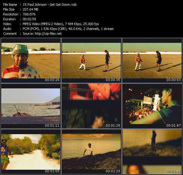 Screenshot of Music Video Paul Johnson - Get Get Down
