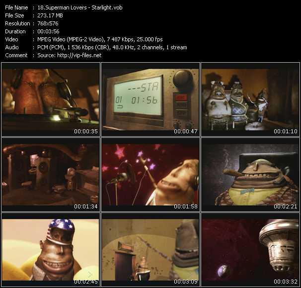 Screenshot of Music Video Supermen Lovers - Starlight