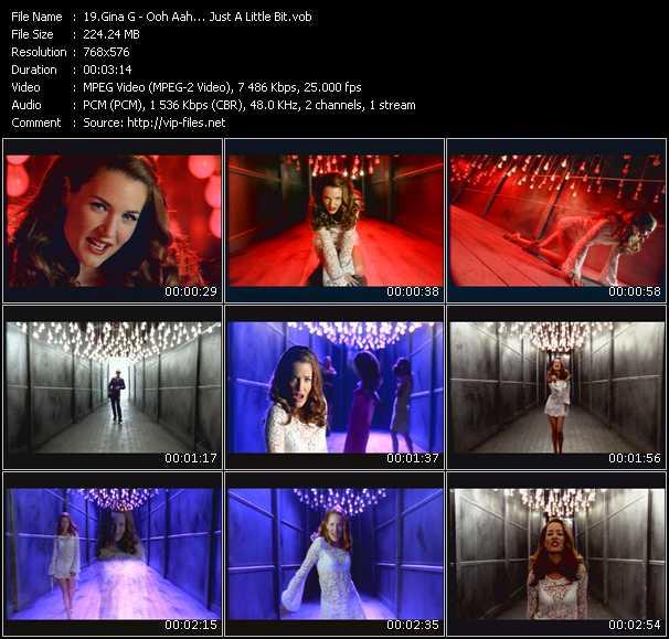 Screenshot of Music Video Gina G - Ooh Aah... Just A Little Bit