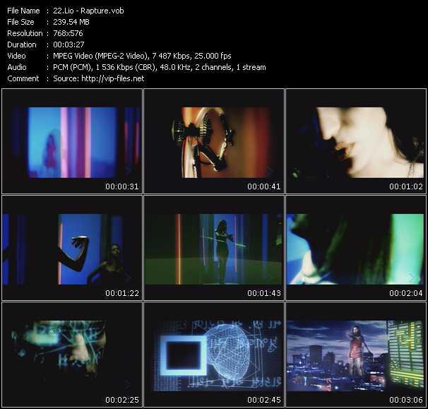 Screenshot of Music Video Lio - Rapture