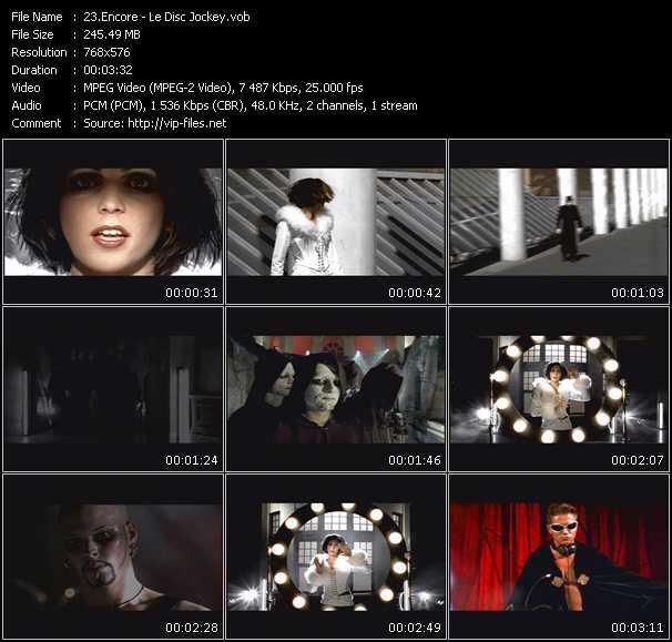 Screenshot of Music Video Encore - Le Disc Jockey