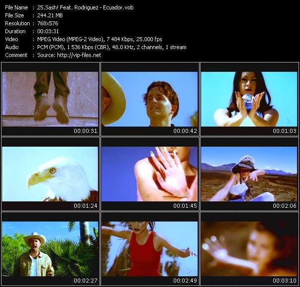 Screenshot of Music Video Sash! Feat. Rodriguez - Ecuador