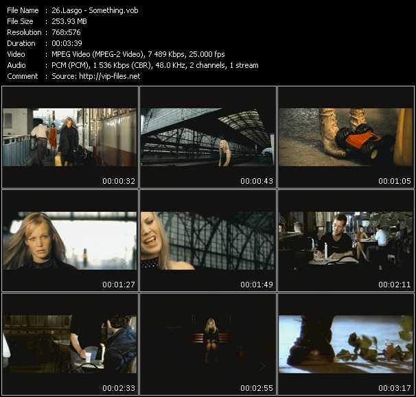 Screenshot of Music Video Lasgo - Something