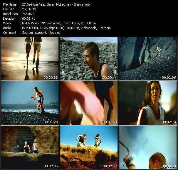 Screenshot of Music Video Delerium Feat. Sarah McLachlan - Silence