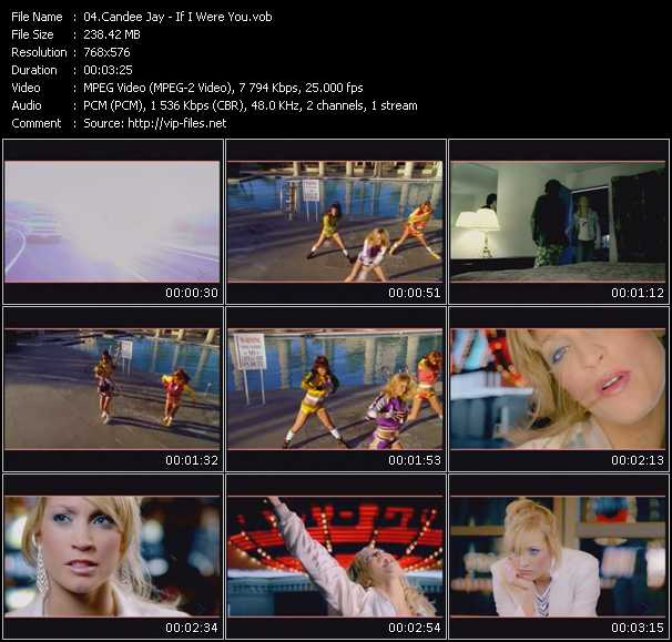 Screenshot of Music Video Candee Jay - If I Were You