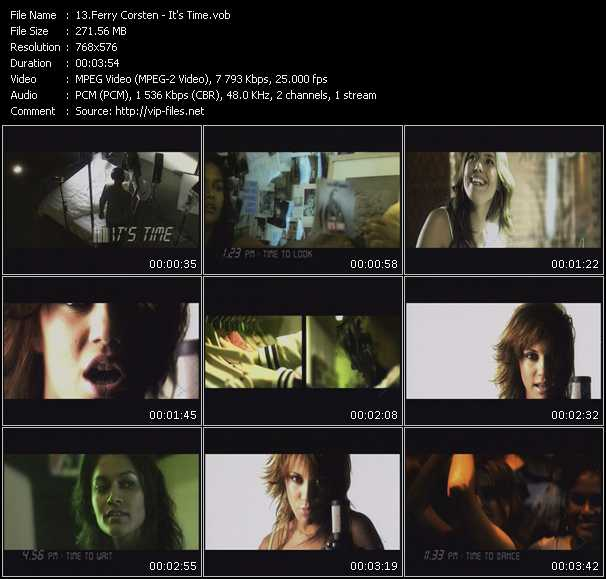 Screenshot of Music Video Ferry Corsten - It's Time