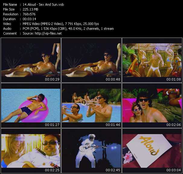Screenshot of Music Video Aloud - Sex And Sun