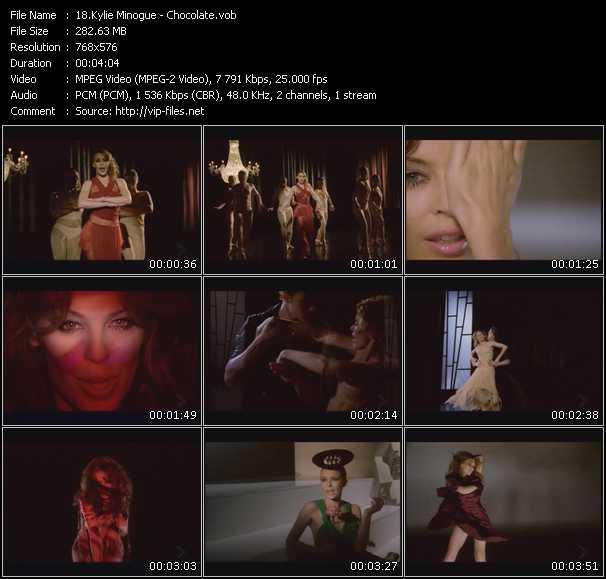 Screenshot of Music Video Kylie Minogue - Chocolate