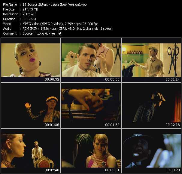 Screenshot of Music Video Scissor Sisters - Laura (New Version)