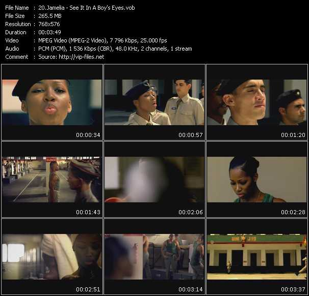 Screenshot of Music Video Jamelia - See It In A Boy's Eyes