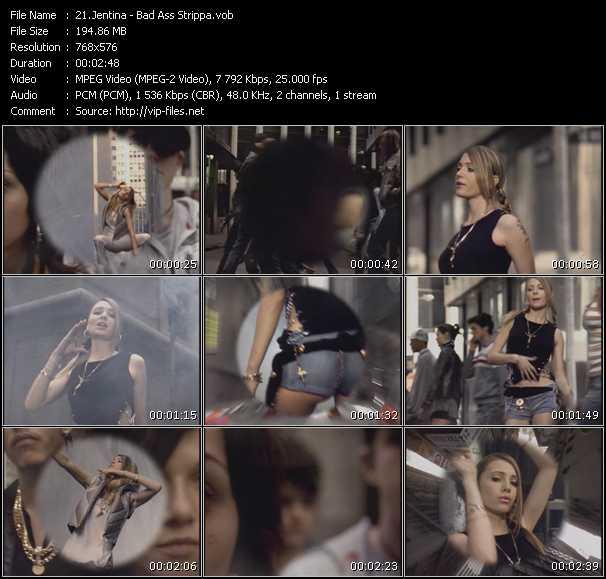 Screenshot of Music Video Jentina - Bad Ass Strippa