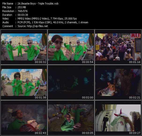 Screenshot of Music Video Beastie Boys - Triple Trouble