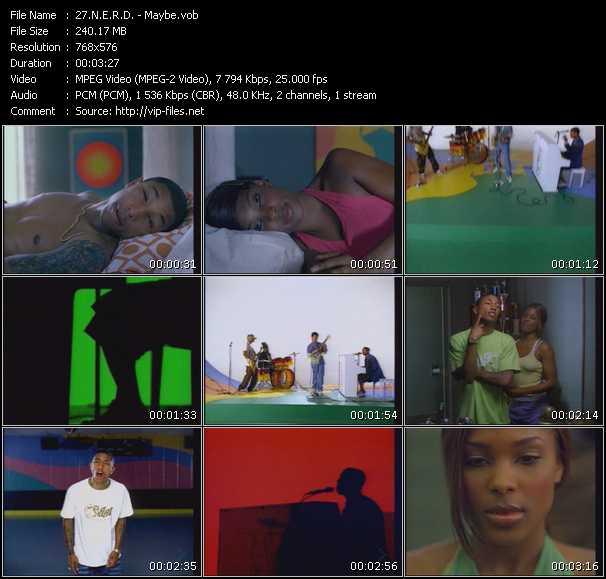 Screenshot of Music Video N.E.R.D. - Maybe