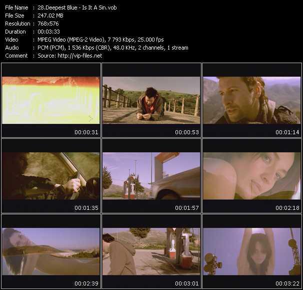 Screenshot of Music Video Deepest Blue - Is It A Sin