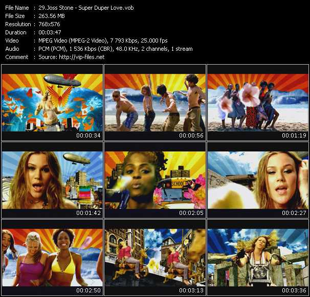 Screenshot of Music Video Joss Stone - Super Duper Love