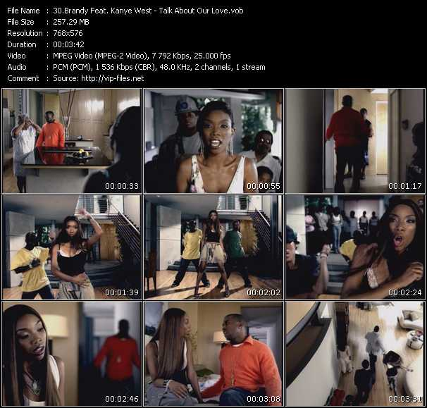 Screenshot of Music Video Brandy Feat. Kanye West - Talk About Our Love