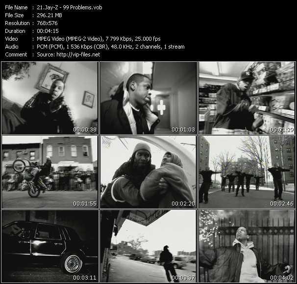 Screenshot of Music Video Jay-Z - 99 Problems