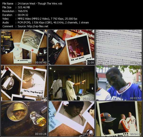 Screenshot of Music Video Kanye West - Though The Wire