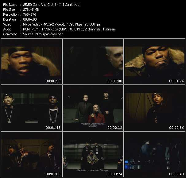 Screenshot of Music Video 50 Cent And G-Unit - If I Can't