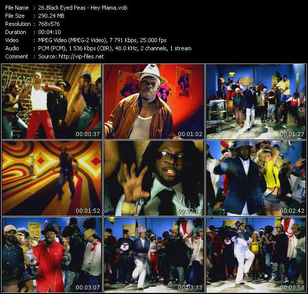 Screenshot of Music Video Black Eyed Peas - Hey Mama