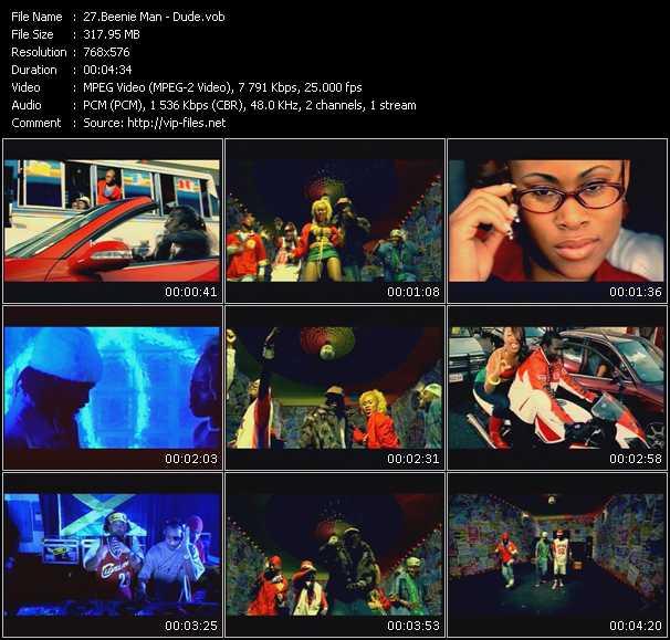 Screenshot of Music Video Beenie Man - Dude