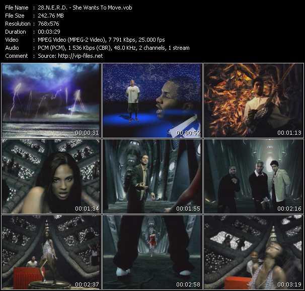 Screenshot of Music Video N.E.R.D. - She Wants To Move