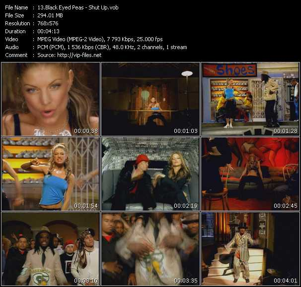 Screenshot of Music Video Black Eyed Peas - Shut Up