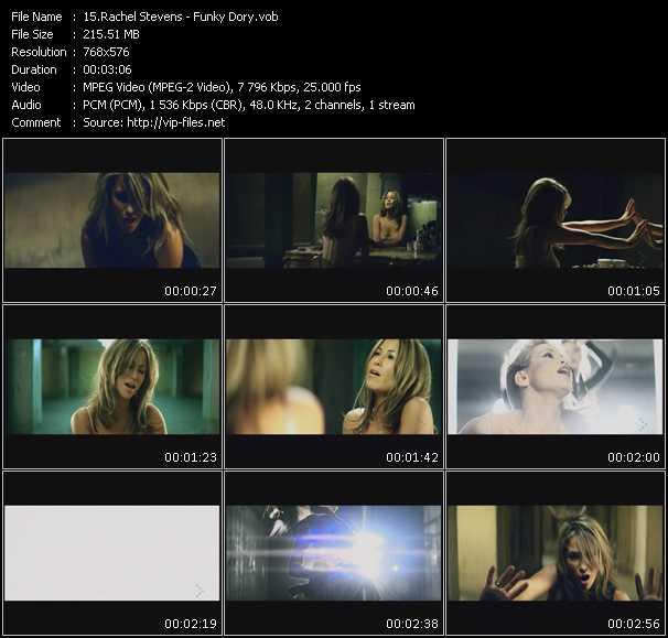 Screenshot of Music Video Rachel Stevens - Funky Dory