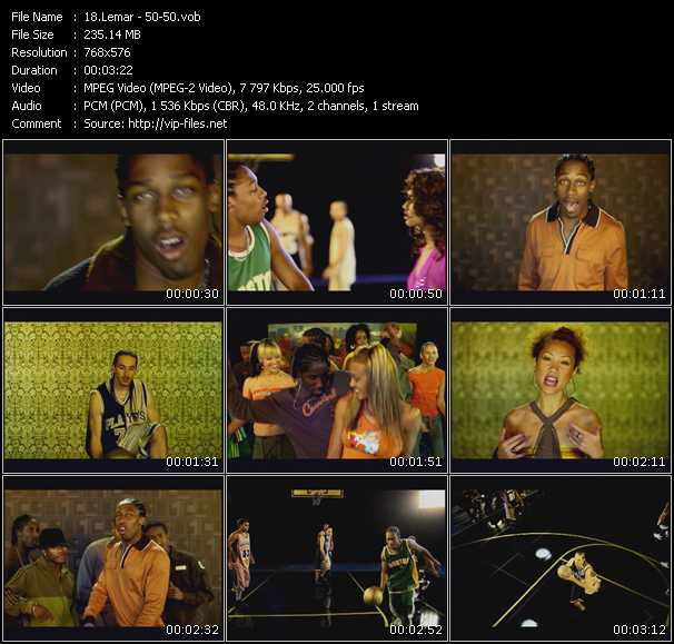 Screenshot of Music Video Lemar - 50 - 50